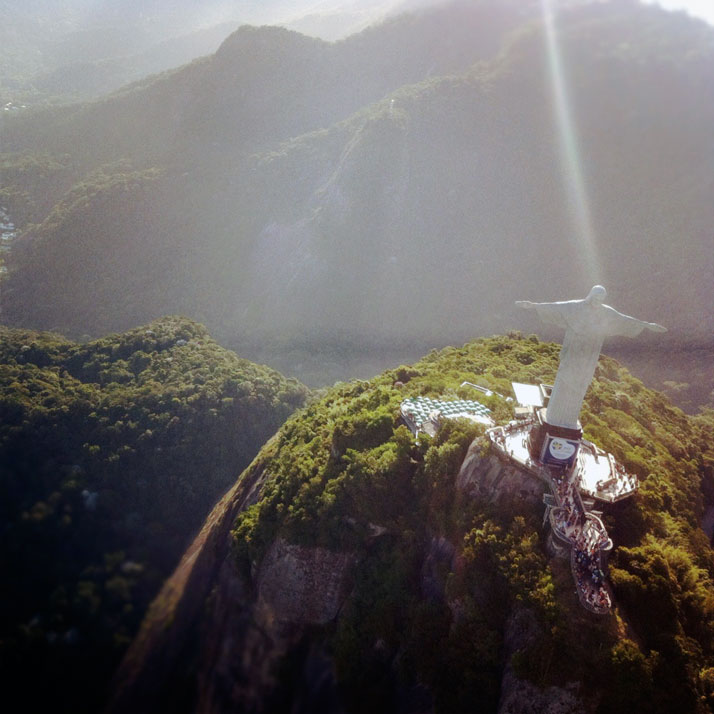 'Christ the Redeemer' from the helicopter, photo © Costas Voyatzis