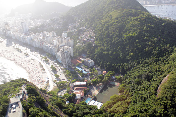 helicopter view of Rio De Janeiro, photo © Costas Voyatzis