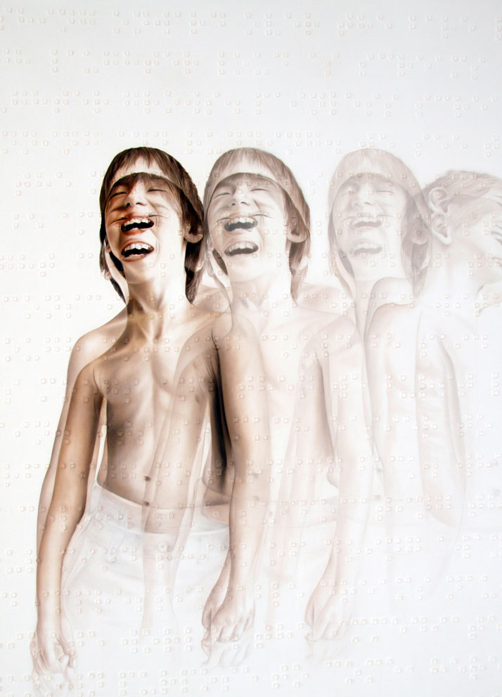 (detail) Tears of Laughter, 2010- 2011, Oil on canvas, (395x185cm)Courtesy of Roy Nachum
