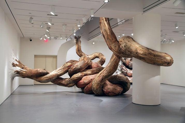 Bololô|    Henrique Oliveira, 2011Smithsonian National Museum of African Art, Washington DCâ€¨plywood4,3 x 9,2 x 7,6 m photo © Henrique Oli