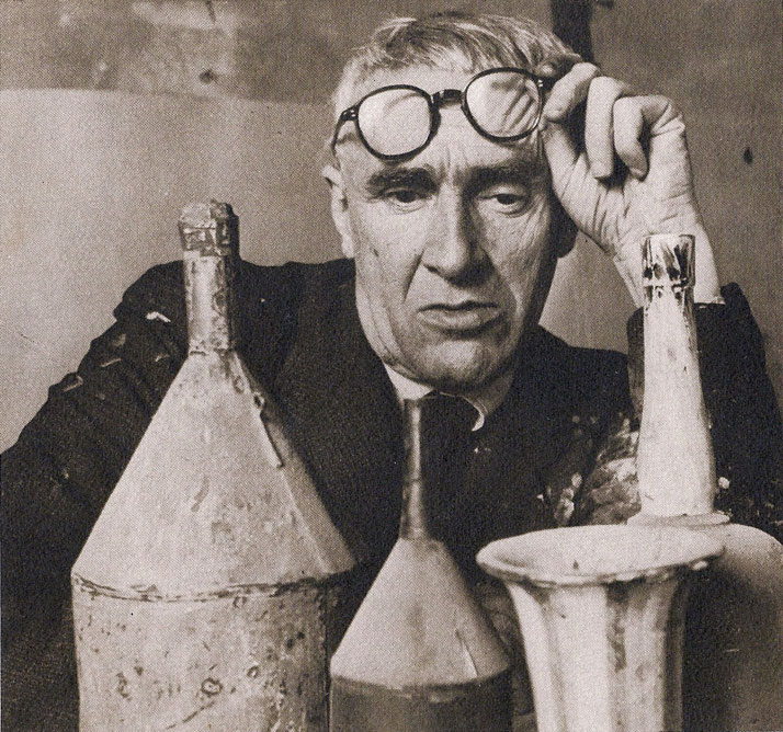 Giorgio Morandi in his studio, Bologna 1953 photo by Herbert List (German, 1903-1975) © Herbert List Estate, Magnum Photos | source