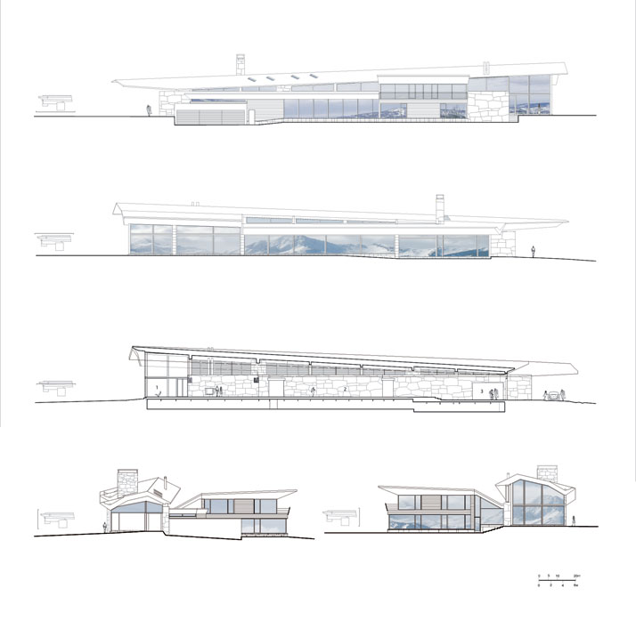 Elevation Drawing © Voorsanger Architects PC