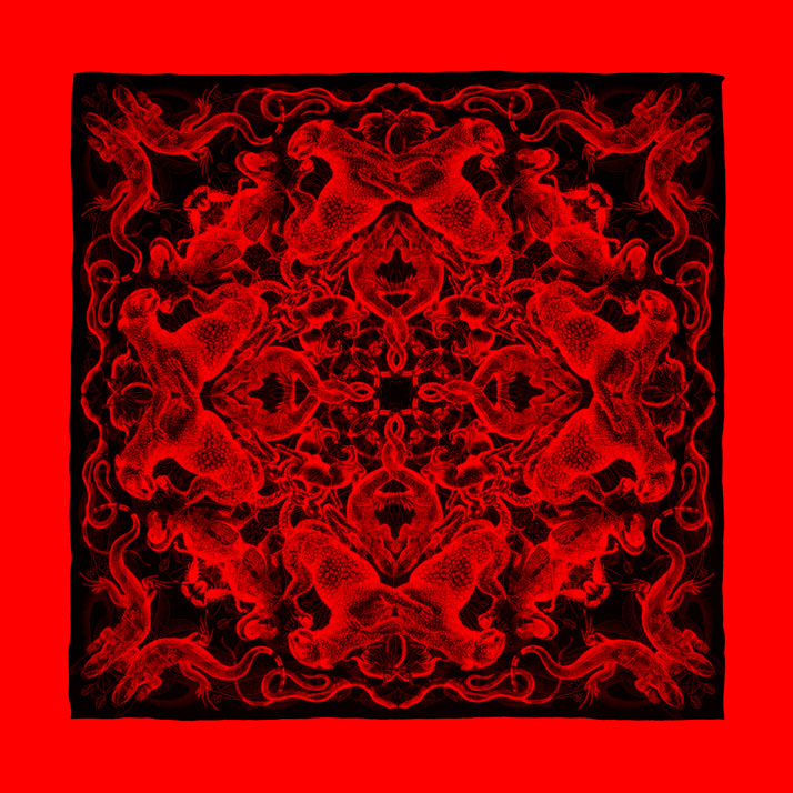 RED composition of scarf Rosone // Courtesy of Carnovsky