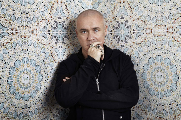 Portrait of Damien Hirst  Photography by Billie Scheepers 