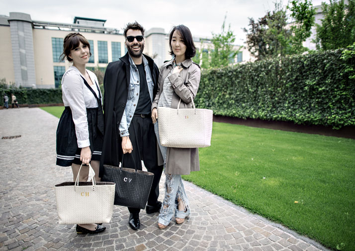 Carrie (WishWishWish), Costas (Yatzer) and Shini (Park&Cube)Photo © Vladimír Dusil / Purseblog