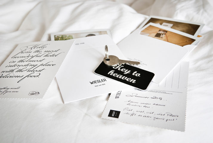 WIESLER Postcards, photo © Hotel Wiesler