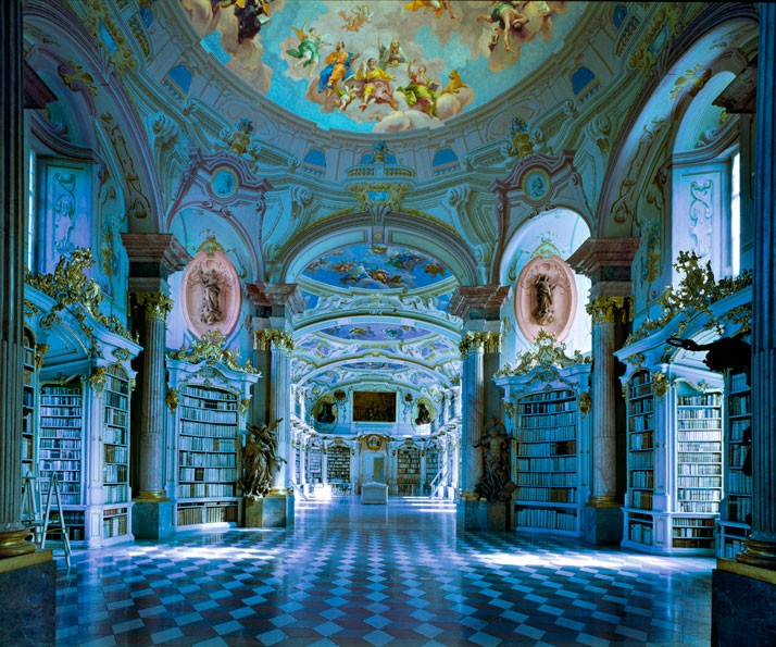 Biblioteca di Admont, Austria, 1994 | photo © Massimo Listri