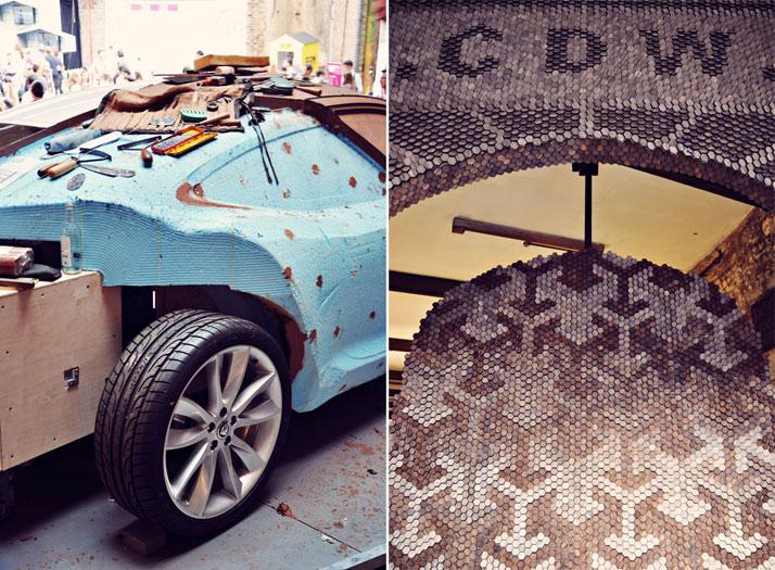 L: Jaguar Concept CarR: Farmiloe Entrancephoto © Ben Webb