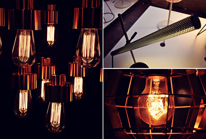 L: Filament Lighting by JardanR: Sweeplamp Lamp by Orsjo & Cage Light Close by Dare studiophoto © Ben Webb