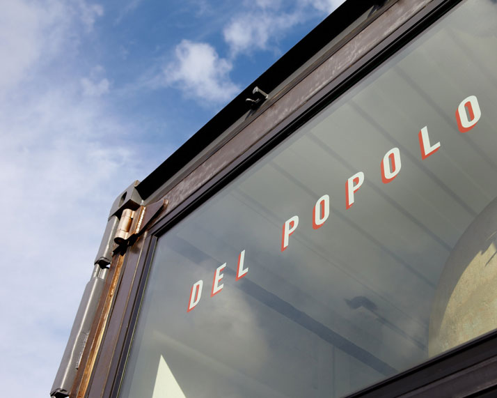 Del Popolo Exterior Window Photo © Eric Zepeda