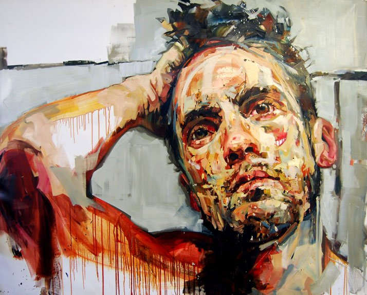© Andrew Salgado // Trust (Self-Portrait I) , 2012 Oil on canvas // 160x210cm