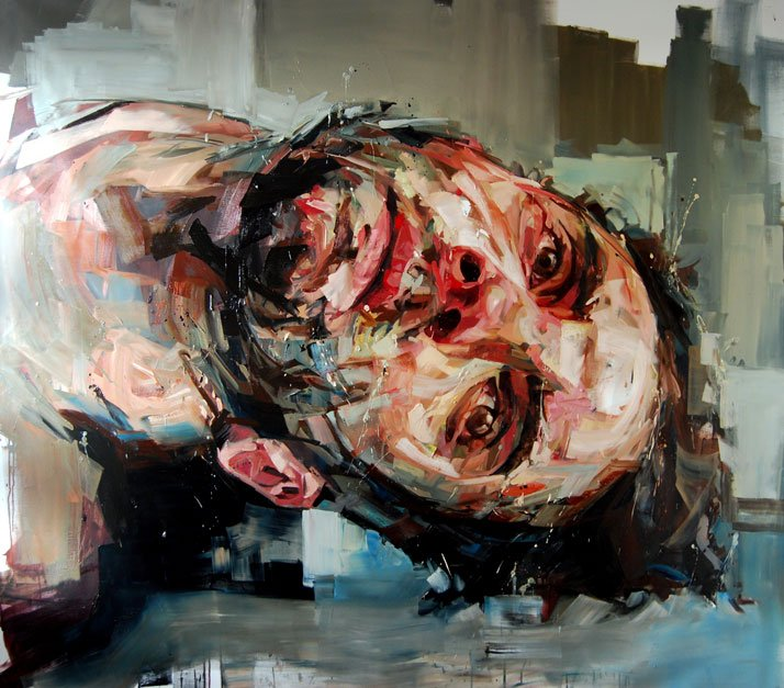 © Andrew Salgado // This Wasn't My Weakness (Self-Portrait II) , 2012 Oil on canvas // 160x230cm