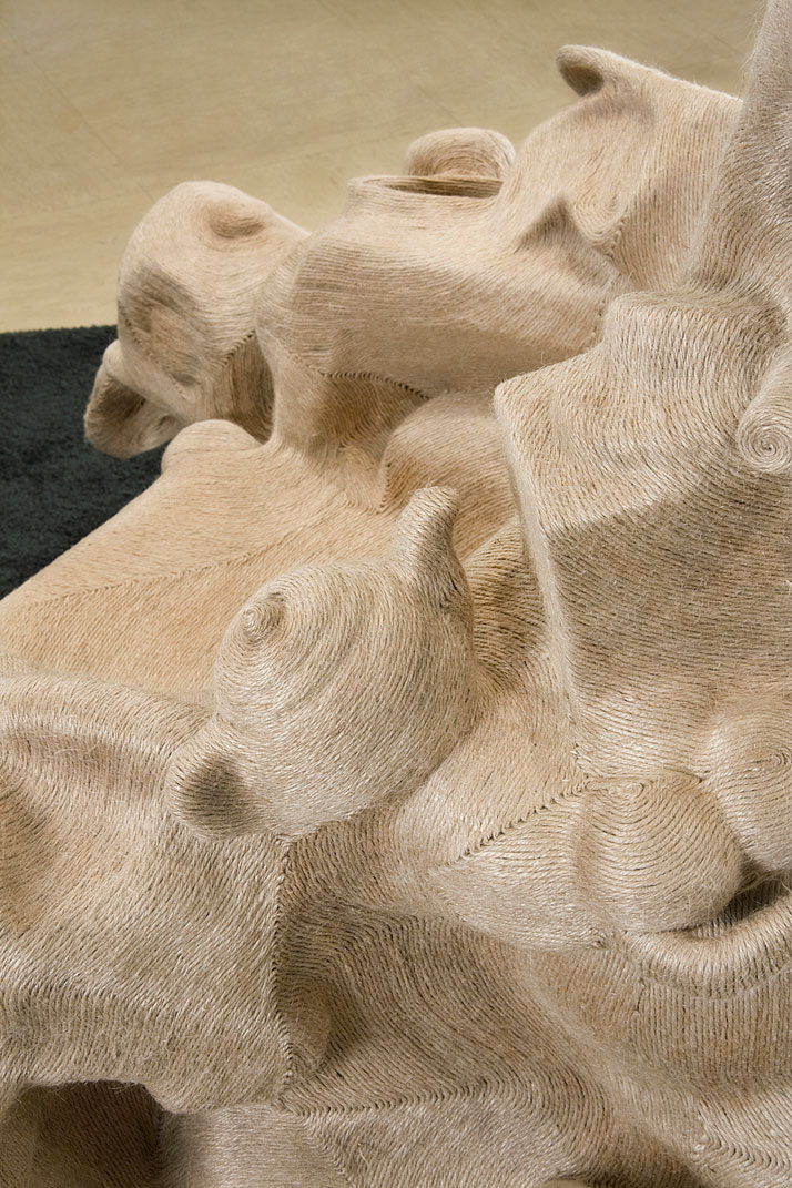 "Savage Chair (detail) / Jute (Plant Fiber), Plastic Objects / 56"" x 44"" x 42"" photo © Jay Sae Jung Oh"