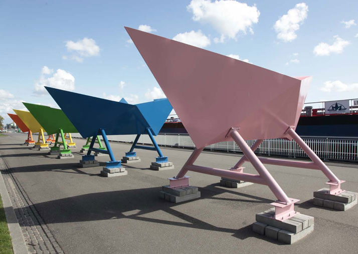 5 paper boats, Rotterdam 2010, photo © Rick Messemaker