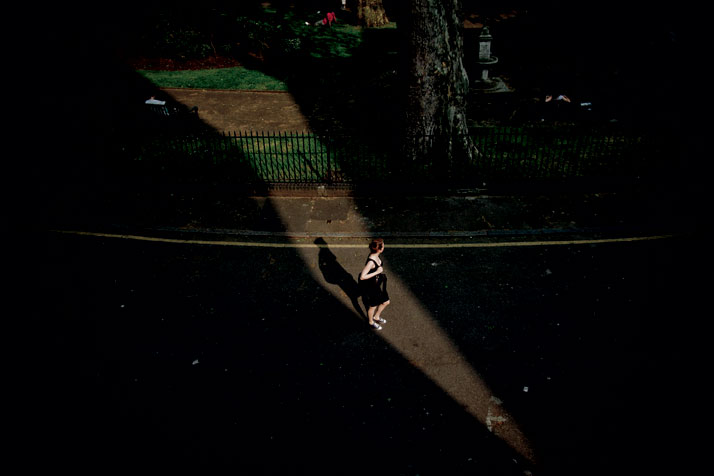 May 2012 // A woman walks through Northampton Square in the late afternoon.photo © Brian Leli