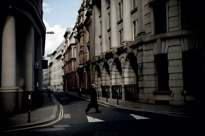 April 2012 // A man crosses the street in the city's West End.photo © Brian Leli
