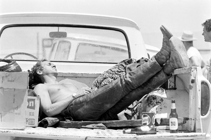 Steve McQueen: KING OF COOLSteve McQueen sleeping in the back of his pick up truck, CA, 1963photo © John Dominis / Time Inc. All Rights Reserved.