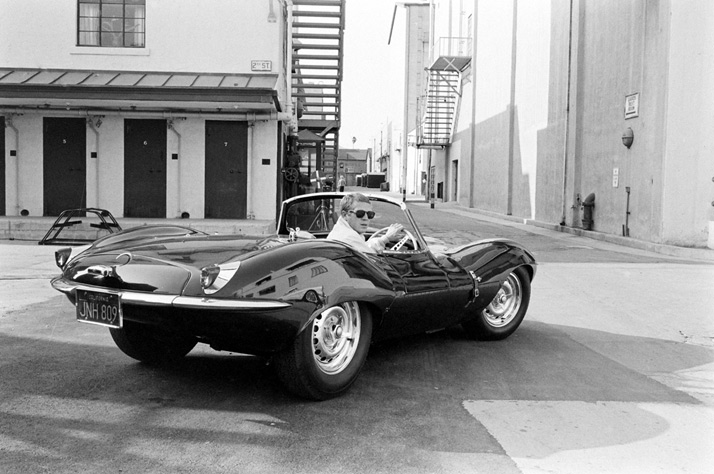 Steve McQueen: KING OF COOLSteve McQueen in black Jaguar at studio, CA, 1963photo © John Dominis / Time Inc. All Rights Reserved.