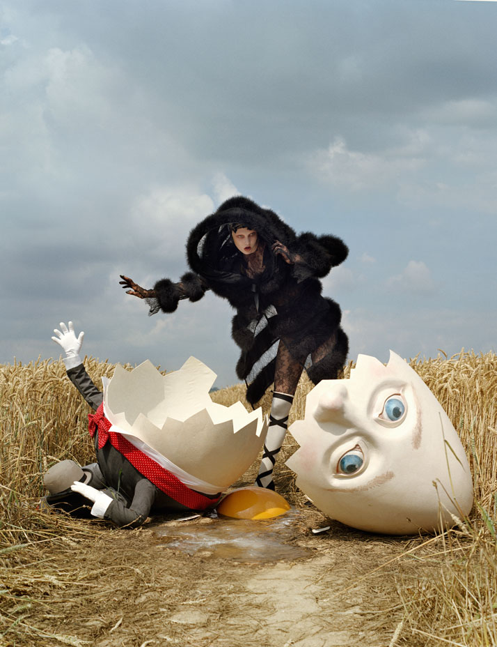 Karlie Kloss and broken Humpty DumptyRye, East Sussex, 2010photo © Tim Walker