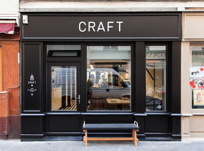 Caf craft by pool in paris france yatzer for Exterior standalone retail