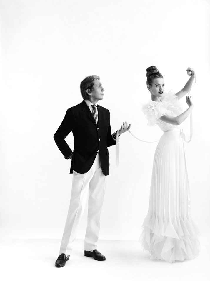 Valentino Garavani and Natalia Vodianova, 2012 photo © Cathleen Naundorf