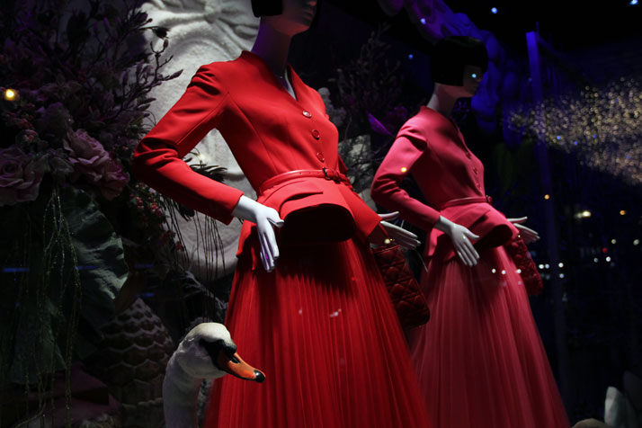 Christmas windows by Dior for Printemps, photo © Costas Voyatzis for Yatzer.com
