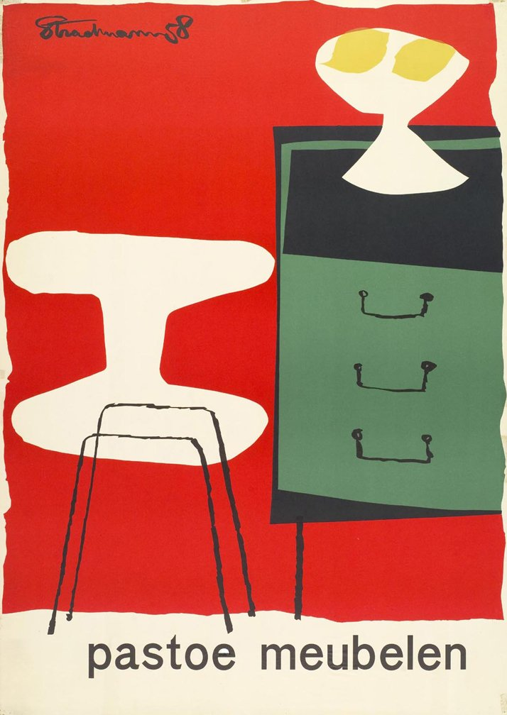 poster by Theo Stradmann, 1958photo © PASTOE