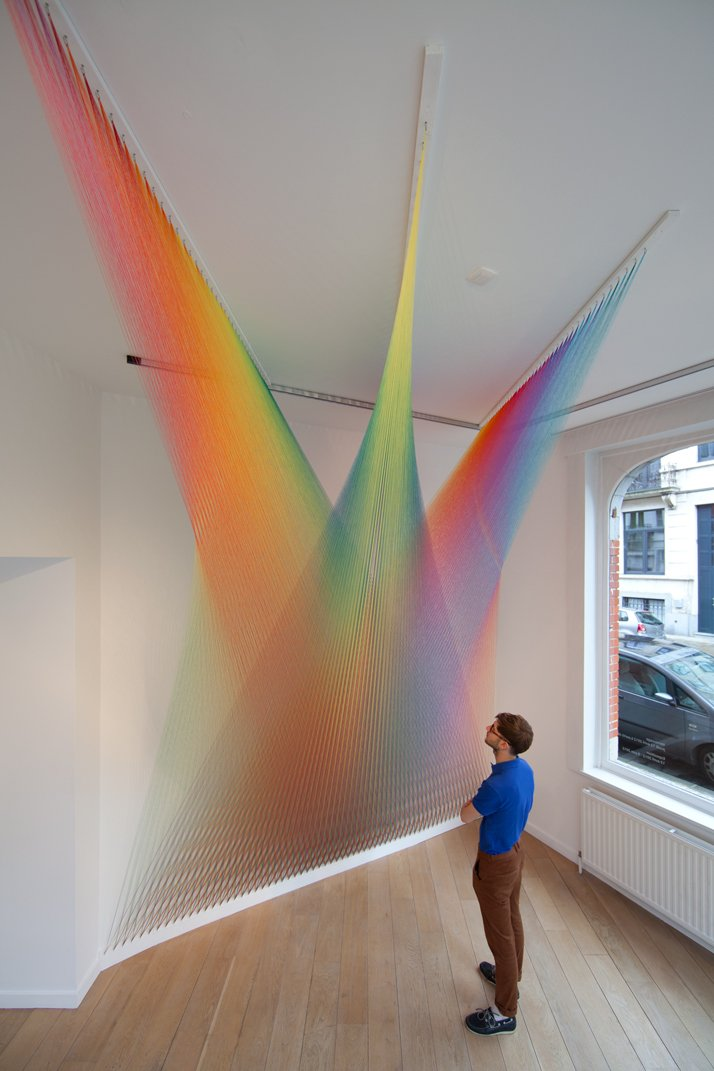 Gabriel Dawe, Plexus No.13photo © Matthieu Kavyrchine