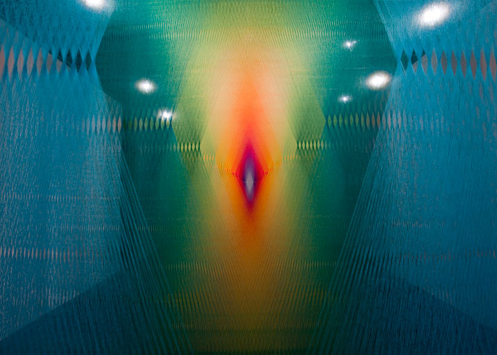 Gabriel Dawe, Plexus No.3 (detail)photo © Kevin Todora