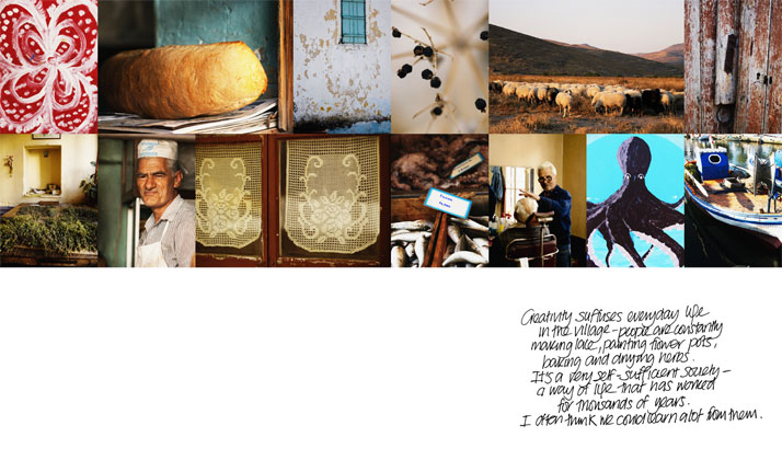 spread from 'My Greek Island Home'photographs © Claire Lloyd, Image Courtesy of Penguin, Australia
