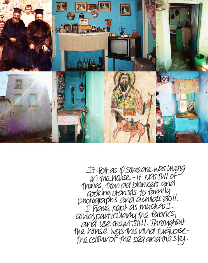 page from 'My Greek Island Home'photographs © Claire Lloyd, Image Courtesy of Penguin, Australia