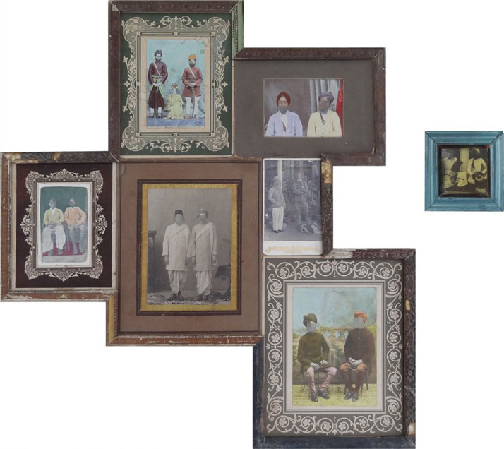 Nandan Ghiya / Happy Even After V.2.0, 2012Acrylic on Photographs & Wooden FramesTaille : 76x71cm + 14x14cm (Diptych)photo © Galerie Paris-Beijing