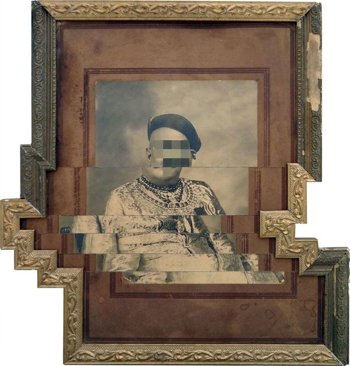 Nandan Ghiya / Download Errow - DSC01720, 2012Acrylic on Photographs & Wooden Frames Taille : 51x51cmphoto © Galerie Paris-Beijing