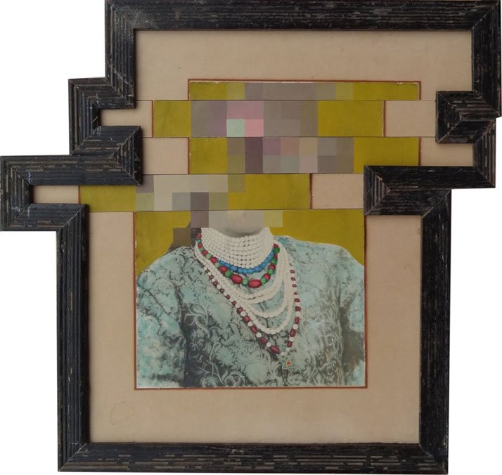 Nandan Ghiya / Download Errow - DSC01260, 2012Acrylic on Photographs & Wooden FramesTaille : 33x34cmphoto © Galerie Paris-Beijing