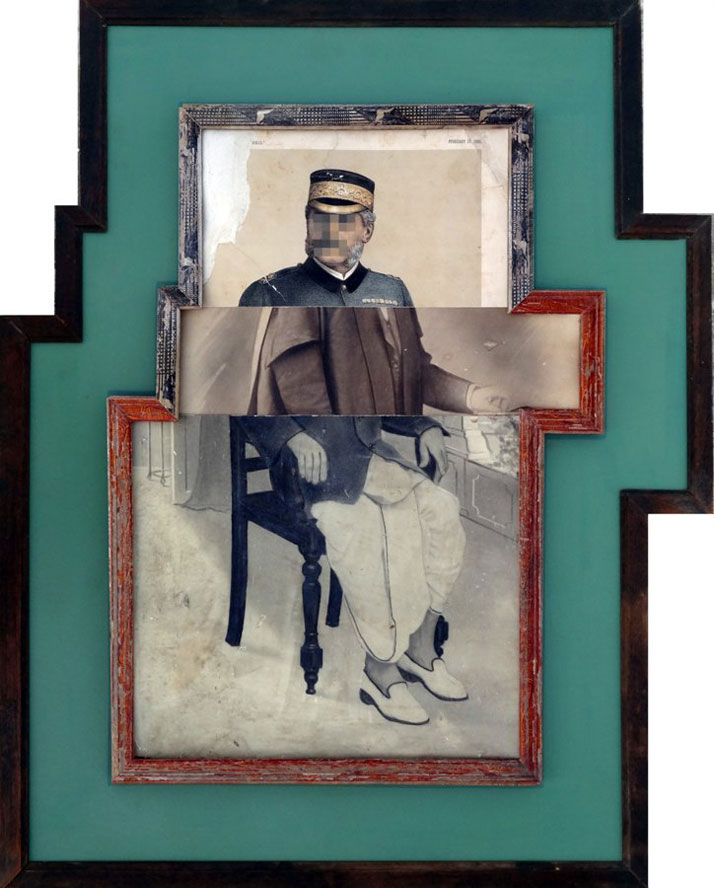 Nandan Ghiya / Varna-Sankara V1.2, 2012Acrylic on Photographs & Wooden FramesTaille : 79x64cmphoto © Galerie Paris-Beijing