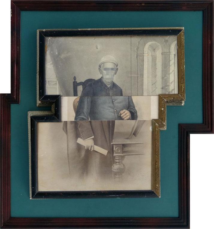 Nandan Ghiya / Varna-Sankara V1.1, 2012Acrylic on Photographs & Wooden FramesTaille : 71x69cmphoto © Galerie Paris-Beijing