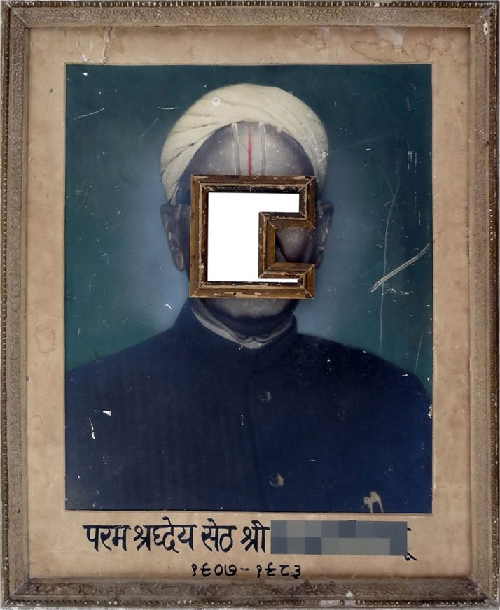 Nandan Ghiya Hon'ble & Kind Indroid 1907-1983, 2012Acrylic on Photographs & Wooden FramesTaille : 52x43cmphoto © Galerie Paris-Beijing