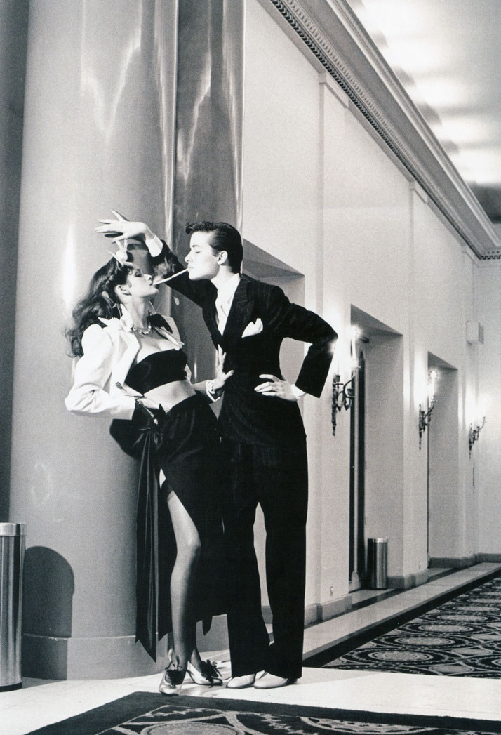 Helmut Newton x YSL for French Vogue 1979.photo © Helmut Newton Estate