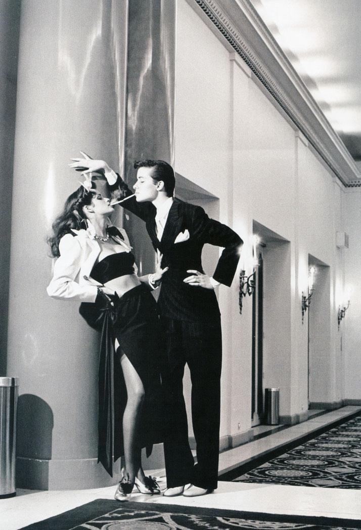 Helmut Newton x YSL for French Vogue 1979.photo © Helmut Newton Estate