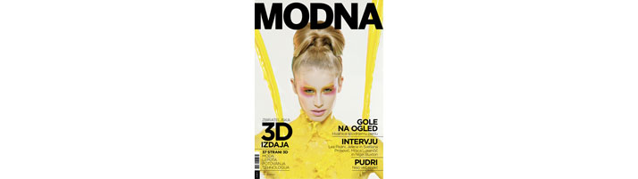 Modna Magazine's cover.
