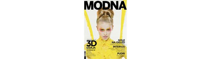 Modna Magazine's cover.