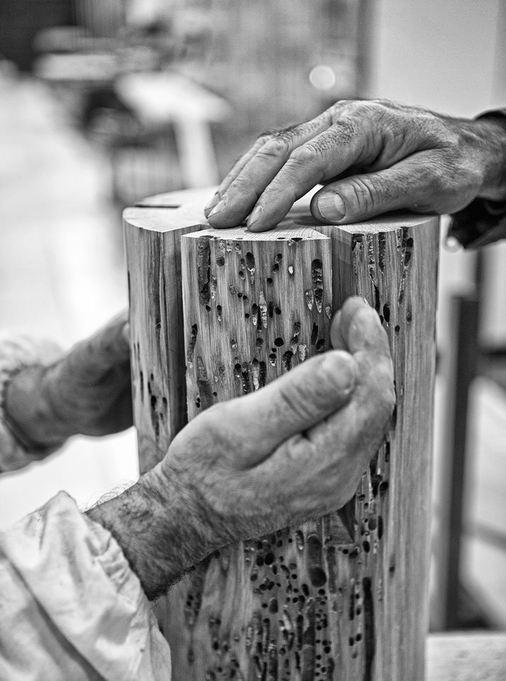 Twelve. Riva 1920, natural woods (making of)photo by Emanuele Zamponi, Courtesy of Vacheron Constantin