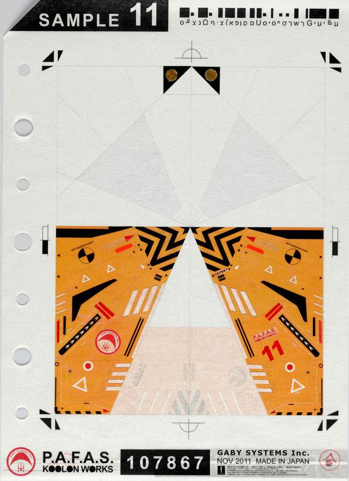 "Shusuke Ao   P.A.F.A.S. Sample 11   2011   Laser print, acrlic, and ink on rice paper   26.7cm x 37.2cm / 10.5"" x 17.75"" (paper)   36cm x 48cm / 14.5"" x 19.25"" (mounted)Courtesy of the artist & CES Contemporary Gallery"