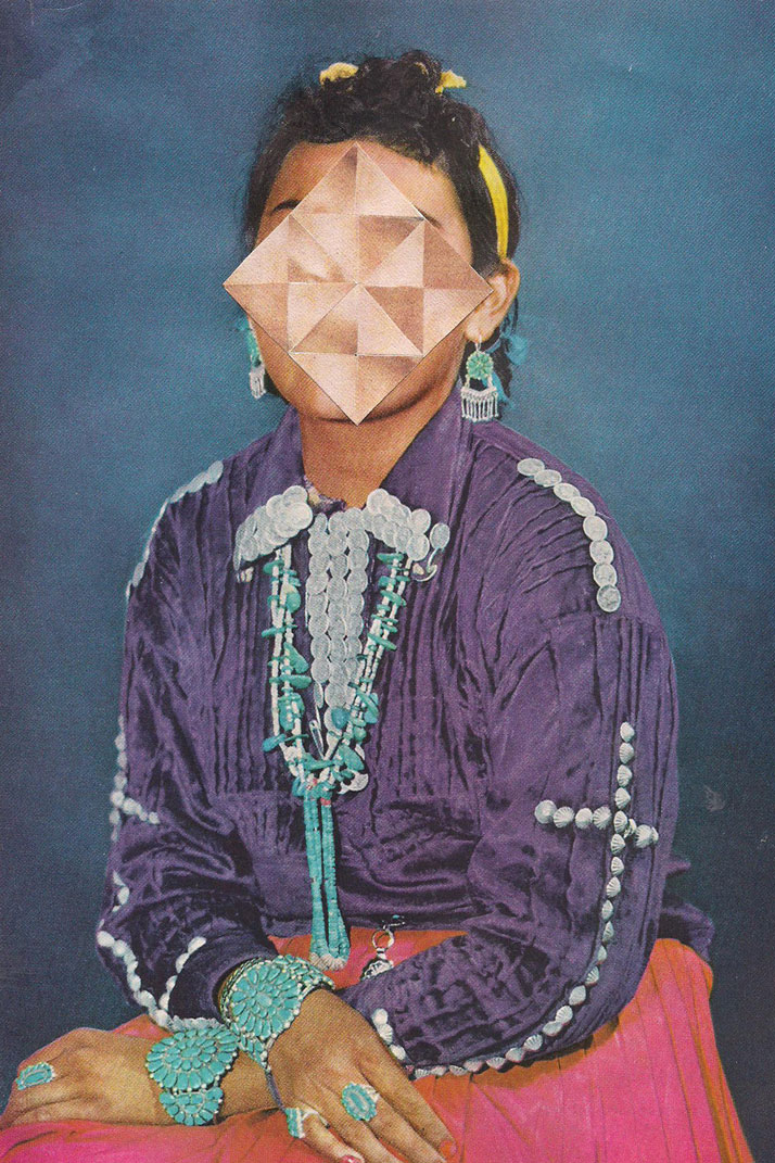 "Jordan Clark | Indian Jones | 2013 | Hand-cut collage on paper | 16.5cm x 24.75cm / 6.5"" x 9.75"" (paper)Courtesy of the artist & CES Contemporary Gallery"