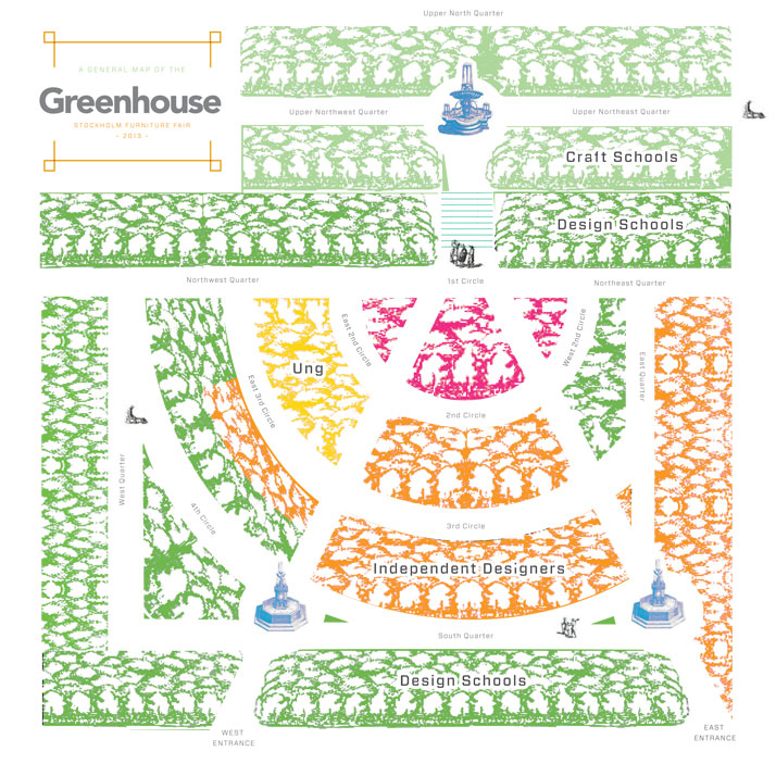 The floor plan of the GREENHOUSE by NOTE Design Studio