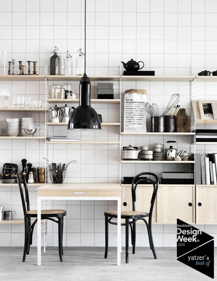 biel, blach white, cegła, czerń, jak urządzić, kitchen, Kuchnia i jadalnie, styl nowoczesny,