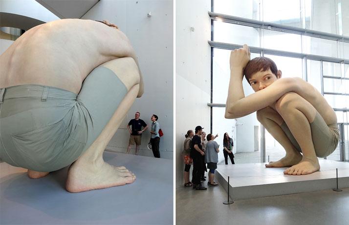 BOY by Ron Mueck, 1999.The sculpture belongs to Jens Erik Sørensen, the Director of ARoS Aarhus Museum of Art in Denmark.photo © Ann Hung