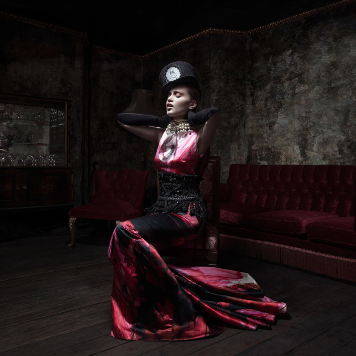 He said he would come backPearl Necklace with big  Crystal: Pericles Kondylatos / Model: Noelle Kondylatou / Hat: Mad  Dollies Rag house / Dress: Vass