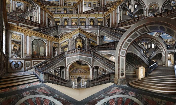 Escalier de la Reine, 2010, C-Print, 180 x 300 cm, photo credit Jean-François Rauzier