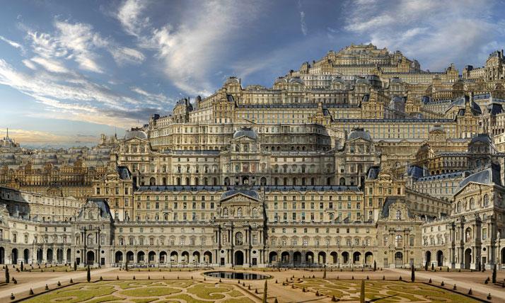 Louvre (Maastricht), 2011, C-Print, 180 x 300 cm, photo credit Jean-François Rauzier